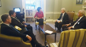 Members of the Washington group were able to sit down with Rep. Cathy McMorris Rodgers (R-Wash.) to talk about the wheat industry's national priorities.