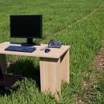 Wheat field desk