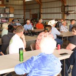 Growers from Grant and Douglas counties enjoyed a catered BBQ meal last summer while hearing state and national updates.