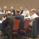 Washington Association of Wheat Growers' president, Ben Adams (fourth from right) and vice president, Marci Green (third from right), were part of the group that traveled to Charleston, S.C., to participate in the National Association of Wheat Growers' Fall Conference.